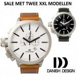 Twee varianten van Danish Design XXL Horloges (IQ12Q889, IQ13Q889)