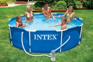 een eigen zwembad in de tuin van intex of havenwood al