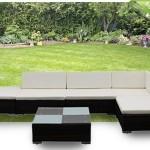 Zesdelige, achtdelige of twaalfdelige wicker loungesets Monza in het bruin of zwart, inclusief verzendkosten met 44% korting