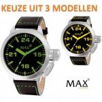 Een MAX 5-max326, 5-max327 of een 5-max328 XXL horloge met 62% korting