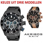Een Akribos XXIV AK512 Chronograph