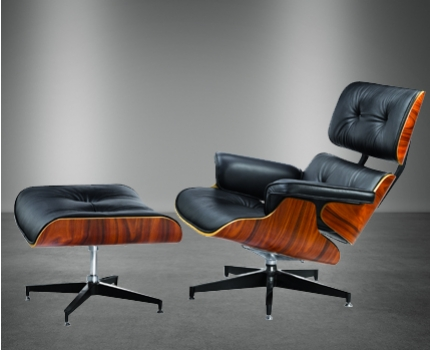 Exclusieve lounge chair en hocker met 44 korting for Eames hocker replica