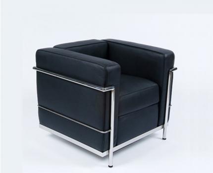 Design fauteuil charles le corbusier lc2 nu voor 299 for Copie de fauteuil design