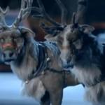Kerstman en zijn rendieren in McDonalds december special reclame
