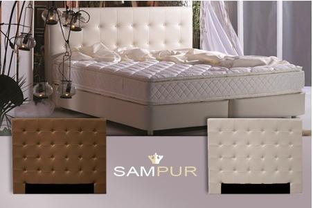 sampur beddenhoofd in kunstleer met 64 korting. Black Bedroom Furniture Sets. Home Design Ideas