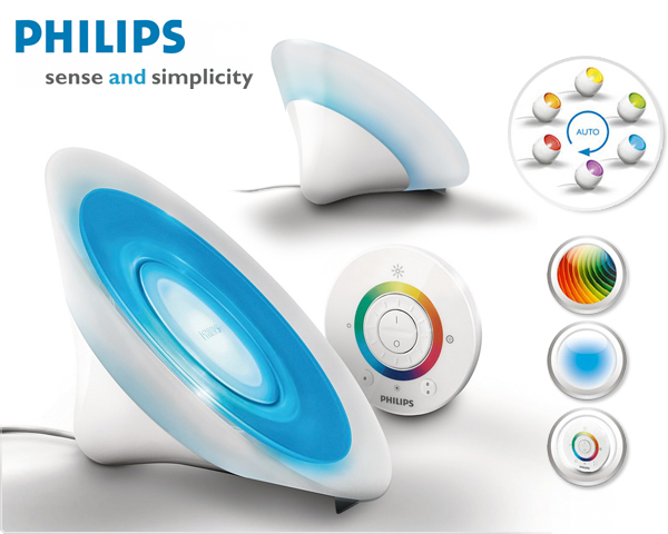 6915011ph philips livingcolors table l 69150 11 ph mini shiny - Lampe Living Colors Philips
