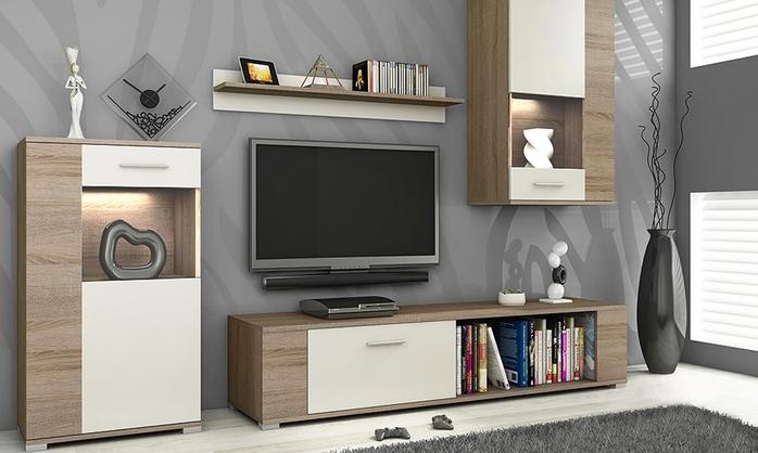 Design wandkast met tv meubel met 50 korting for Tv wandkast