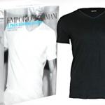 3 Armani T-shirts in zwart of wit voor € 39,99