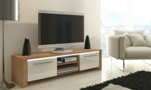 Blank Houten Tv Meubel.Tv Meubel Wit Hout Action Wandrek Industrieel